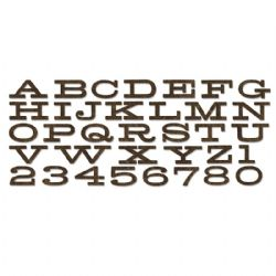 660991 Sizzix Bigz XL Alphabet Die - Billboard by Tim Holtz